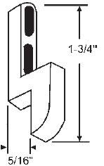 "Gordon Glass Co. STB Sliding Glass Patio Door Keeper, Mill, 1-3/4"" Height x 5/16"" Width at Sears.com"