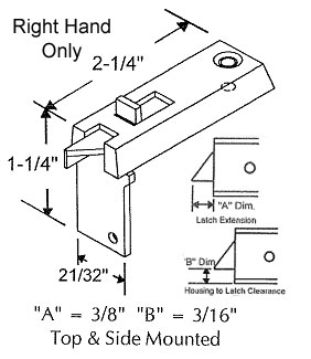 TechnologyLK Tilt Window Latch, White, Right Hand ONLY