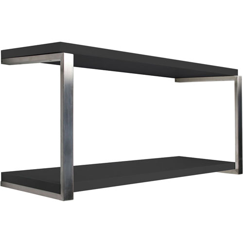 "Dolle Shelving 32"" x 12"" Sumo Black Wood Shelf Kit with Two Arc Supports at Sears.com"