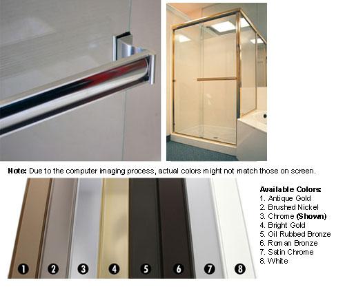 TechnologyLK Bright Gold Sliding Frameless Shower Door Single Towel Bar Kit - 33