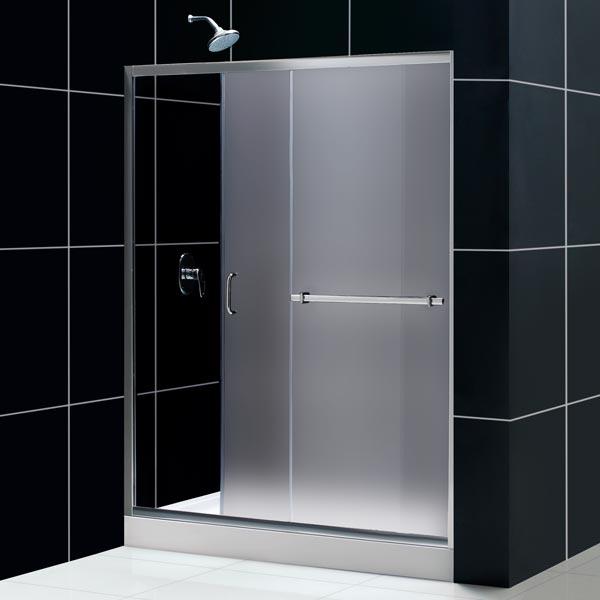 DreamLine DL-6093R-01FR Tub To Shower Kit: INFINITY PLUS Shower Door, AMAZON 32 x 60 Shower Base, Chrome Finish
