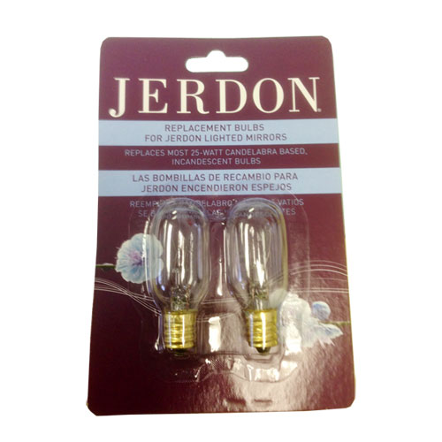 GordonGlass 25W Replacement Bulbs for SeeAll and Jerdon Lighted Makeup Mirrors - Pack of 2 at Sears.com
