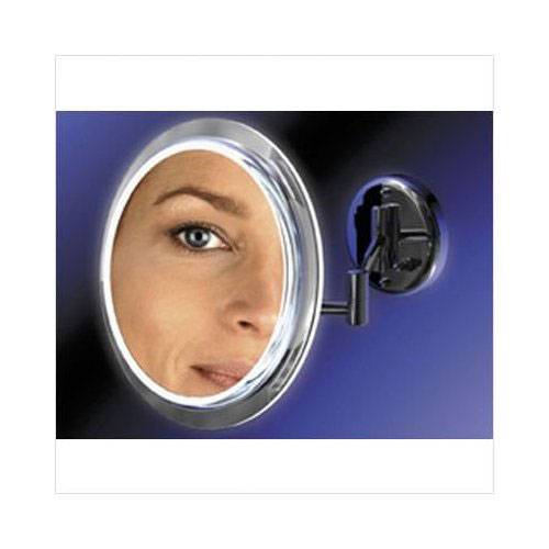 "Zadro Products, Inc. Zadro 9"" Makeup Magnifying Vanity Mirror, Chrome, Surround Light, Dual Arm, 5X Magnification - Hardwire at Sears.com"
