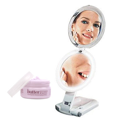 Zadro Products, Inc. Zadro ULT111 ULTIMATE Lighted Travel Makeup Mirror and Cuccio Lemongrass & Lavendar Body Butter at Sears.com