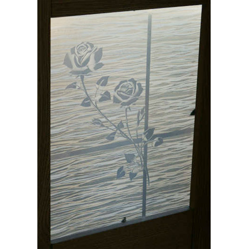 """Gordon Glass Co. Clear Etched Rose Privacy Window Film 36"""" Wide x 6.5 ft. Roll at Sears.com"""